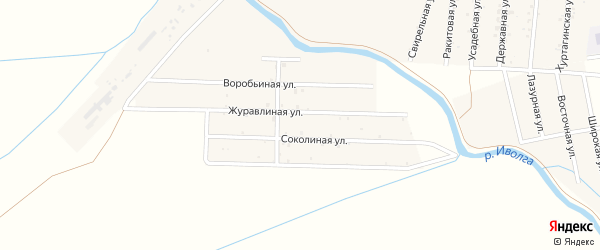 Местность Омулевка на карте села Гурульбы Бурятии с номерами домов