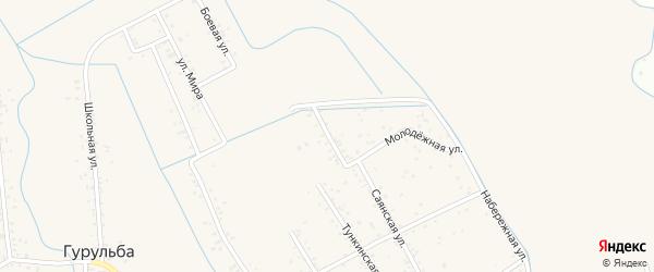 Молодежная улица на карте села Гурульбы с номерами домов
