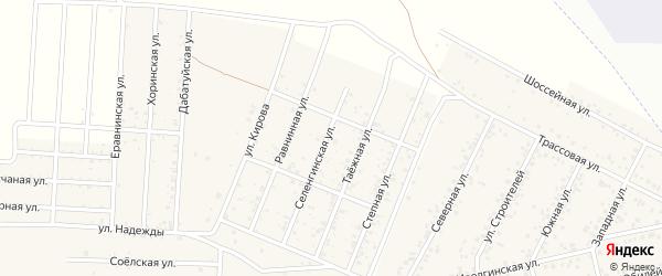 Широкая улица на карте территории ДНТ Лика с номерами домов