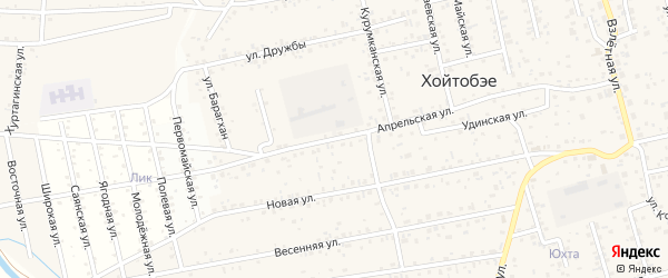 Апрельская улица на карте территории ДНТ Лика с номерами домов