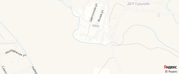Улица Хуриганова на карте села Гурульбы Бурятии с номерами домов