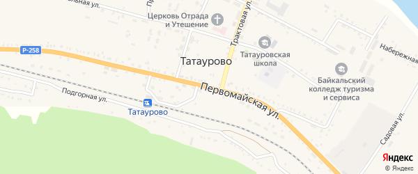 Первомайская улица на карте поселка Татаурово с номерами домов