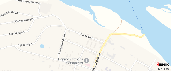 Новая улица на карте поселка Татаурово с номерами домов