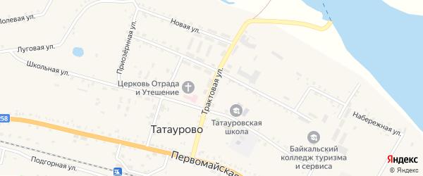 Трактовая улица на карте поселка Татаурово с номерами домов