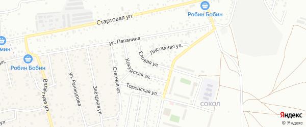 Еловая улица на карте улуса Хойтобэе с номерами домов