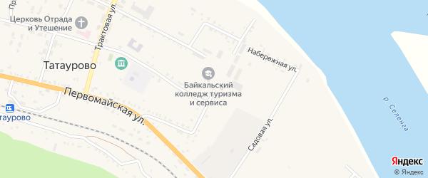 Механизаторская улица на карте поселка Татаурово с номерами домов
