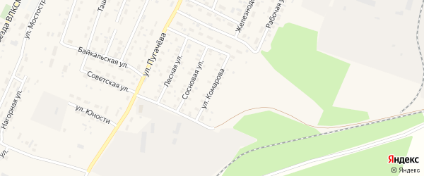 Улица Комарова на карте Магистрального поселка Иркутской области с номерами домов