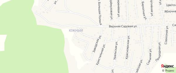 Квартал Южный Байкальская улица на карте села Сотниково с номерами домов