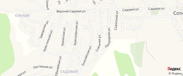 Енисейская улица на карте Садового  с номерами домов