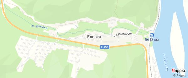 Карта поселка Еловка в Бурятии с улицами и номерами домов