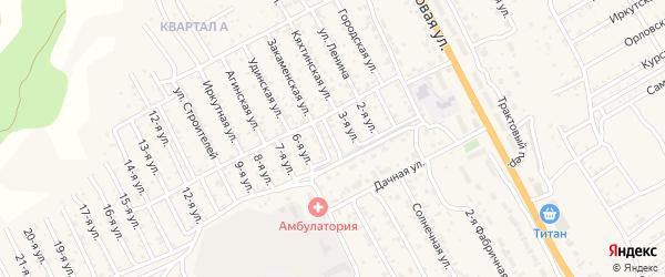 Улица 4-й квартал 1-я (СНТ Багульник) на карте села Сотниково с номерами домов