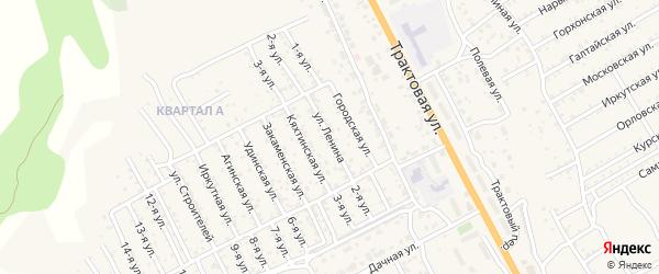 Улица Ленина (ДНТ Овощевод) на карте села Сотниково Бурятии с номерами домов