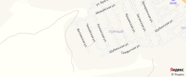 Чикойская улица на карте Горного  Бурятии с номерами домов