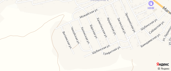 Квартал Горный Хилокская улица на карте села Сотниково с номерами домов