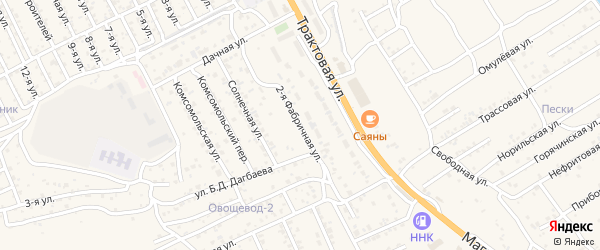 Фабричная 2-я улица на карте села Сотниково с номерами домов