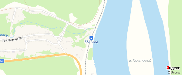 Километр 5613 на карте поселка Еловка Бурятии с номерами домов