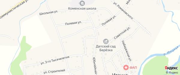 Улица Гагарина на карте села Итанца с номерами домов