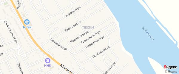 Горячинская улица на карте села Сотниково с номерами домов