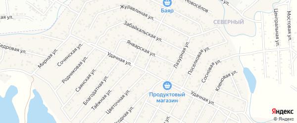 Беловежский переулок на карте села Сужа Бурятии с номерами домов