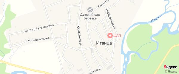 Советская улица на карте села Итанца с номерами домов