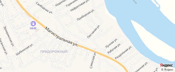 Джидинская улица на карте села Сотниково с номерами домов