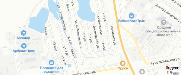 Улица 5-я (ДНТ Весна) на карте Улан-Удэ с номерами домов