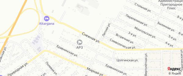 Снежная улица на карте села Сужа с номерами домов