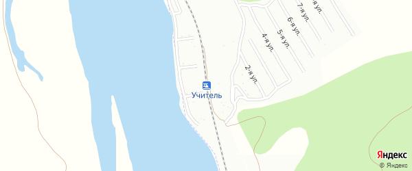 Пражская улица на карте территории СНТ Учителя с номерами домов