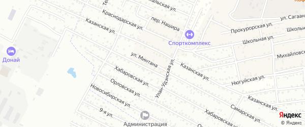Улица Минтана на карте села Поселье Бурятии с номерами домов