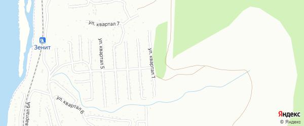 Улица 3-й квартал 1-я (СНТ Багульник) на карте села Сотниково с номерами домов