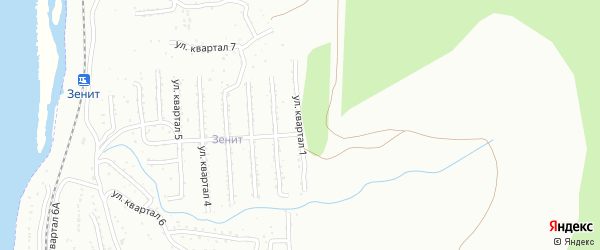 Улица 3-й квартал 1-я (СНТ Багульник) на карте села Сотниково Бурятии с номерами домов