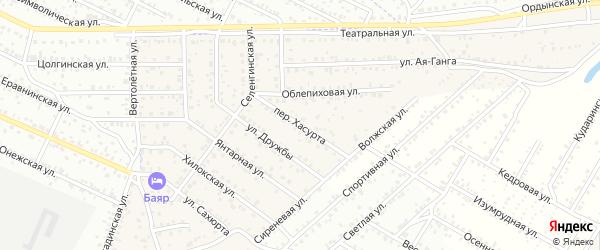 Переулок Хасурта на карте села Сужа Бурятии с номерами домов