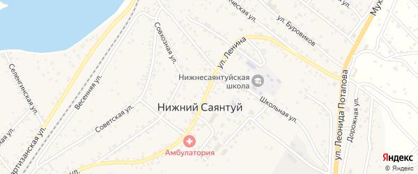 Улица Ленина на карте села Нижнего Саянтуя с номерами домов
