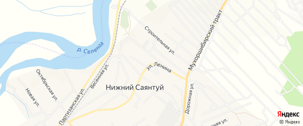 Карта села Нижнего Саянтуя в Бурятии с улицами и номерами домов