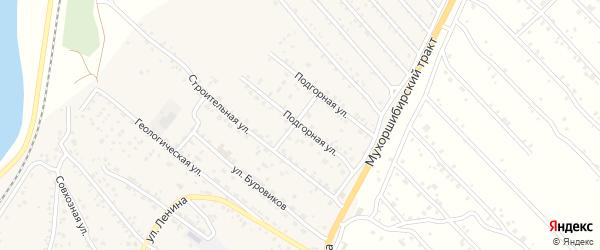 Подгорная улица на карте села Нижнего Саянтуя с номерами домов