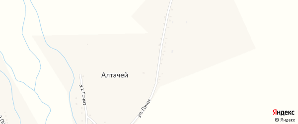 Улица Гочит на карте улуса Алтачей Бурятии с номерами домов