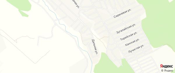 Дачное некоммерческое партнерство ДНТ Кедр на карте Николаевского поселка Бурятии с номерами домов