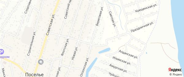 Набережная улица на карте села Поселье с номерами домов