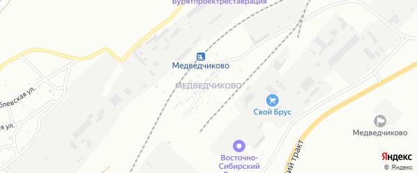 Поселок при станции Медведчиково на карте Улан-Удэ с номерами домов