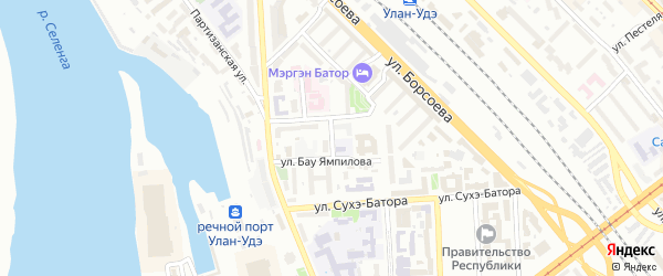 Улица Крупской на карте Улан-Удэ с номерами домов