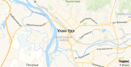Карта Улан-Удэ с улицами и домами подробная - показать