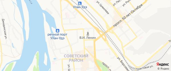 СНТ Энергетик на карте Улан-Удэ с номерами домов