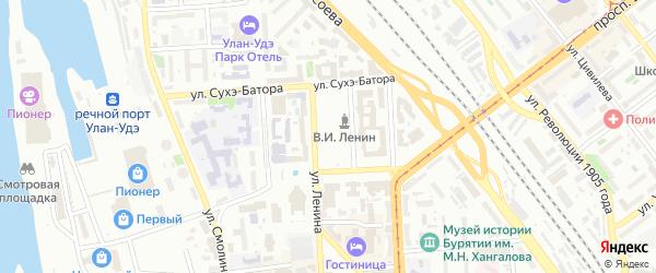 Яблочная улица на карте территории СНТ Строителя с номерами домов