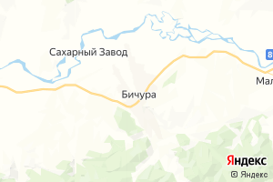 Карта с. Бичура Республика Бурятия