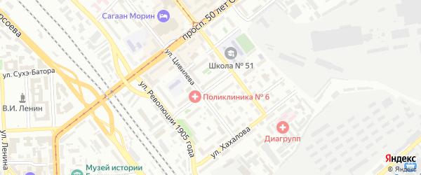 Московская улица на карте Улан-Удэ с номерами домов