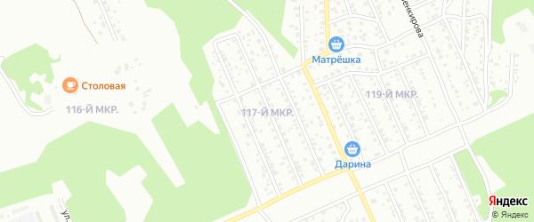 117-й микрорайон на карте Улан-Удэ с номерами домов