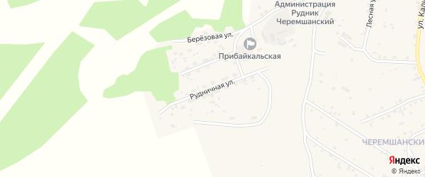 Рудничная улица на карте села Турунтаево Бурятии с номерами домов