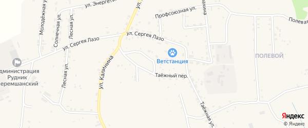 Таежный переулок на карте села Турунтаево с номерами домов