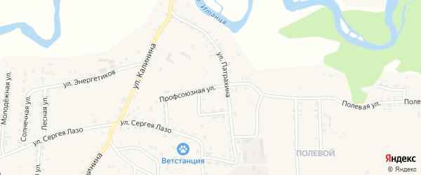Профсоюзная улица на карте села Турунтаево Бурятии с номерами домов
