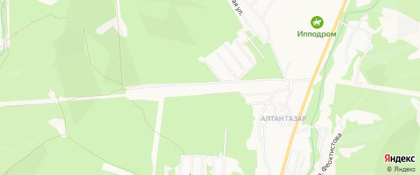Территория ДНТ Багульник на карте Улан-Удэ с номерами домов